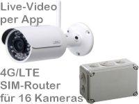 E 4G/LTE 3G/UMTS Mobilfunk Baustellenkamera Set BW304 AK162-230