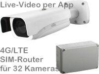 E 4G/LTE Mobilfunk-Kamera-Set SNC441-AK328