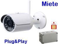 X Miete 3G/UMTS Mobilfunk-Stallkamera Set DA304 PP65 8W AK162