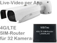 E 4G LTE Überwachungskamera-Set SNC441 (Baustellenkamera)