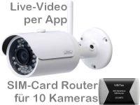 E 3G UMTS Überwachungskamera-Set BW304 (Baustellenkamera)
