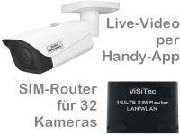 E 4G LTE Mobilfunk-Baustellenkamera-Set SNC441FBIFe PoE