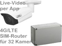 E 4G/LTE Mobilfunk-Baustellenkamera Set SNC-441FBIFe AK328 PoE