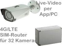 E 4G/LTE 3G/UMTS Mobilfunk-Baustellenkamera Set SNC-421FBIA AK32