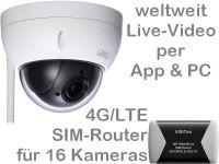 E 4G/LTE 3G/UMTS Mobilfunk-Überwachungskamera Set BW3060