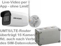 E 4G/LTE 3G/UMTS Mobilfunk Baustellenkamera Set HK304 AK162-230
