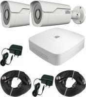 260.22 SANTEC Full-HD CVI Überwachungskamera Komplet-Set mit 2 Stk. Full-HD Outdoor Nachtsichtkameras, Digital-Rekorder REC-3510 für LAN, Internet mit 1000GB, Smartphone-App für iPhone Android