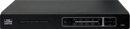SANTEC SNVR-31642E 4K/UHD Netzwerk Videorekorder 16-Kanal NVR mit 16 Port PoE (davon 8 ePoE) ohne Festplatte