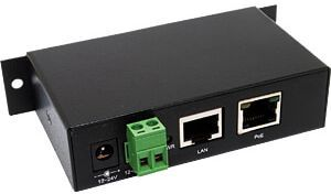 297.82 EuroTech Power over Ethernet (PoE) Injektor, Betrieb mit 12V bis 24V
