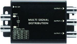 EuroTECH Multi-Signal 4-fach Video-Verteiler/Verstärker für TVI, AHD, CVI, FBAS/CVBS (Composite) Video-Signale